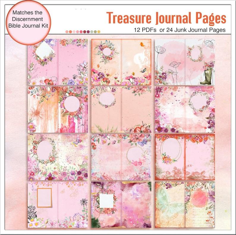 Junk Journal or Treasure Journal:  Pink Orange and Purple image 0