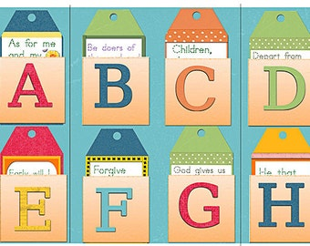 Bible Journal Early! w ABC Tags Lapbook & Alphabet Bible Clipart for Sunday School, Homeschool, Scripture Lapbooking