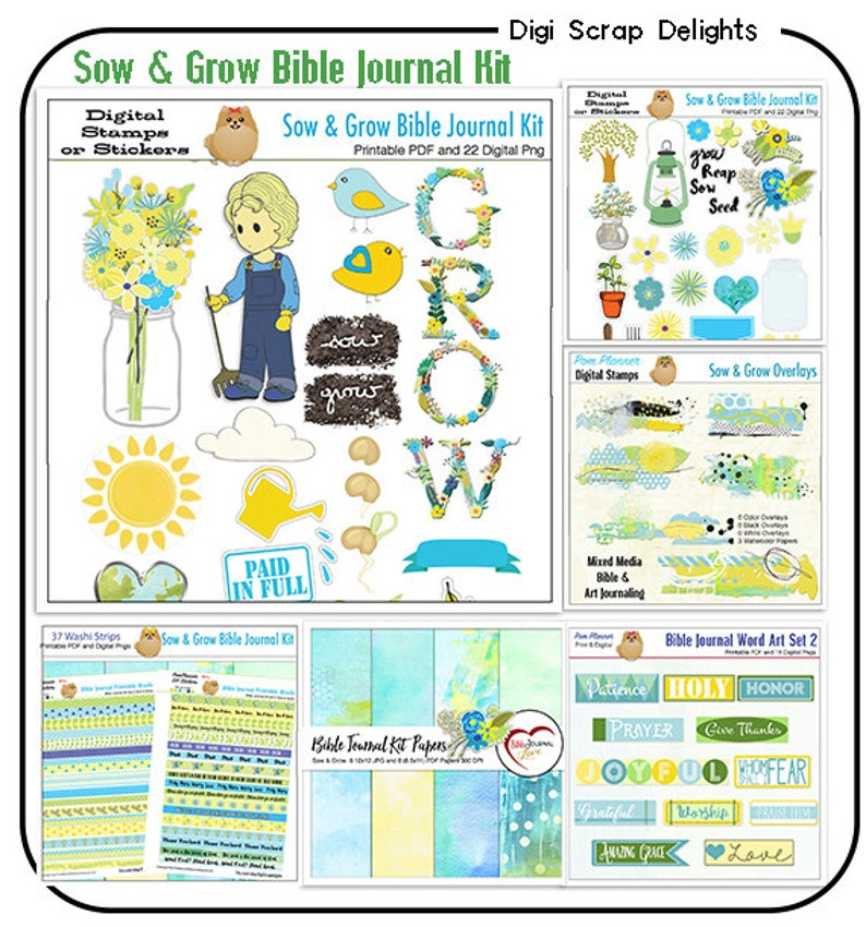 Sow & Grow Bible Journal Bundle Printable PDFs and Over 150 image 0