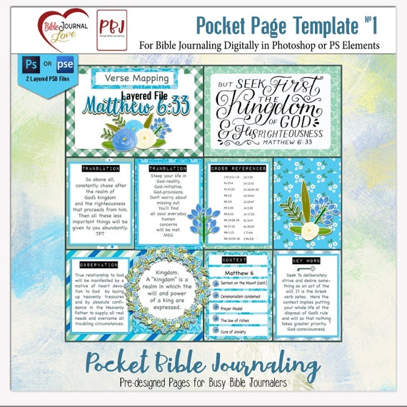 picture regarding Verse Mapping Printable identify Pocket Bible Journaling Template Package 1: Verse Mapping, 2 PSD for Photoshop Aspects , Printable PDF Job Everyday living Sbook