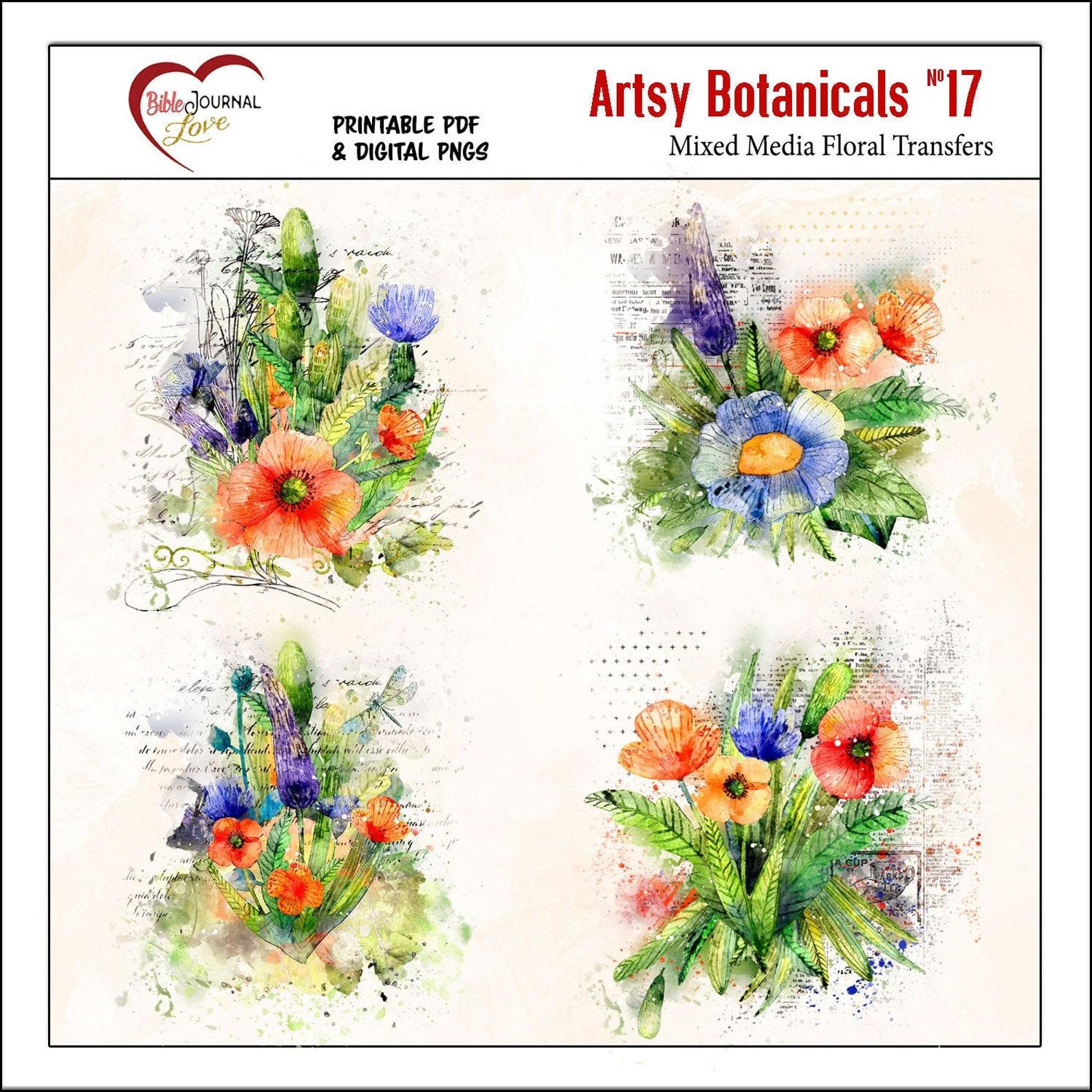 Artsy Wildflower Blendable Transfers Digital