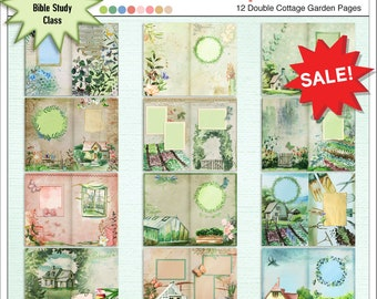 Sow & Reap Junk Journal or Treasure Journal. Watercolor Cottage Garden Theme. Matching Kit Available w 250+ Elements! Verse Mapping.