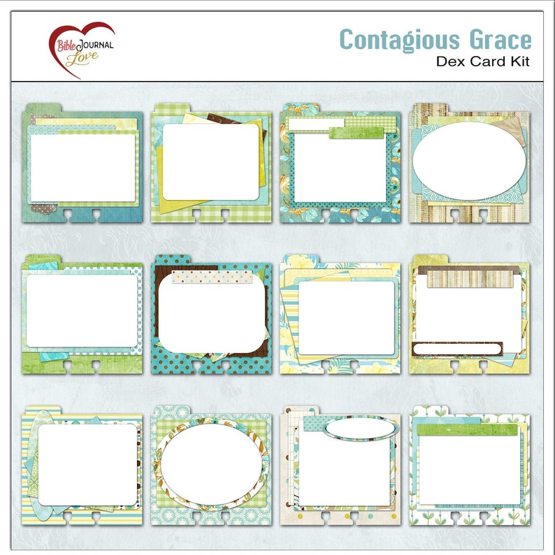 12 Contagious Grace Memory Dex Card Backgrounds Green image 0