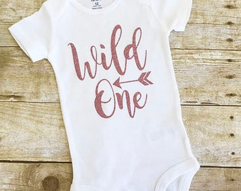 1f211eccf First Birthday outfit girl, Wild One ONESIE®, Girls first Birthday Shirt,  First Birthday outfit Girl, Wild one, She's a wild one, 1st bday