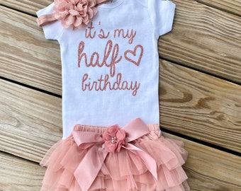 Tstars Half Birthday Outfit for Baby 1//2 Birthday Gift Golden Crown Baby Bodysuit