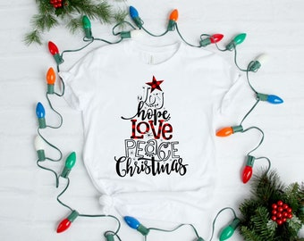 af90dc3da576 Womens Christmas Shirt, Joy hope love shirt, Christmas, Tis the Season for  christmas Movies, Christmas Family Shirt, Holiday Shirts,