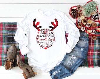 488609591d4d27 Womens Christmas shirt, Christmas shirt Long Sleeve, Reindeer Shirt,  Christmas shirts, Womens shirt, Christmas movies shirt, Holiday Tee