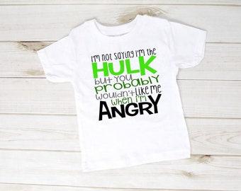 f1d435a3 Superhero Birthday Shirt, Superhero shirt, Boys Superhero shirt, Hulk Smash  Shirt, I'm not saying I'm the hulk but you probably don't want