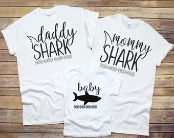 362ff096 Mommy Shark Shirt, Daddy Shark Shirt, Matching Family Shirts, Family Shark  Shirts, Mommy Daddy Shark Do Do Do, Mommy and Me Outfit