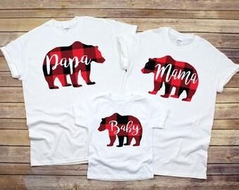 6afb492e Mama Bear Shirt, Matching family shirts , Mothers Day Gift, Buffalo Plaid  Bear Shirt, New Mother gift, Family Bear, Mother's Day gift, bear