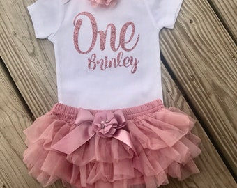 b9265f258 First birthday outfit girl, Rosegold Birthday outfit, Personalized Birthday  outfit, Rosegold Outfit, 1st Birthday Tutu Outfits, 1st Birthday
