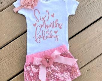 12 birthday outfit 6 month birthday outfit 12 birthday shirt Girl half birthday shirt Cake smash outfit Half birthday girl shirt