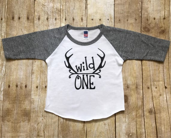 Boys First Birthday Shirt Wild One Boy