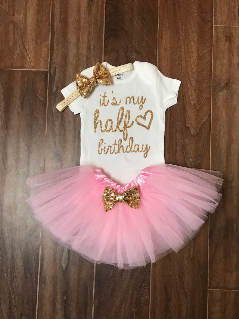 6a08ab38c Half Birthday Girl Outfit Half Birthday Outfit 1/2 Birthday | Etsy