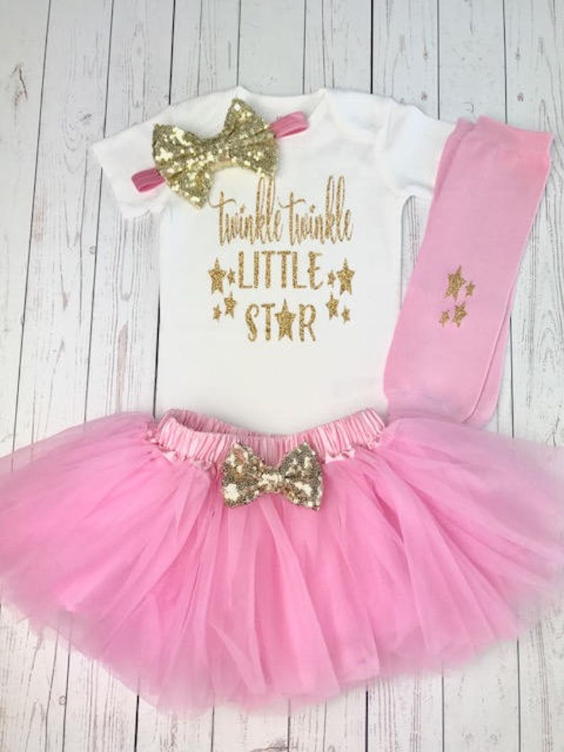 e095841fb Twinkle Twinkle Little Star First Birthday Outfit First   Etsy