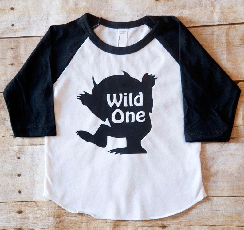 Where The Wild Things Are First Birthday Shirt Baseball Tee