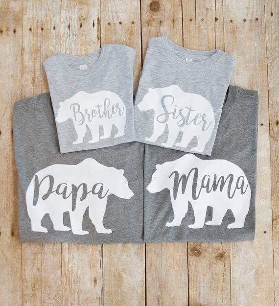 85d6857f Mama Bear Shirt matching family shirts Bear Family Shirts | Etsy