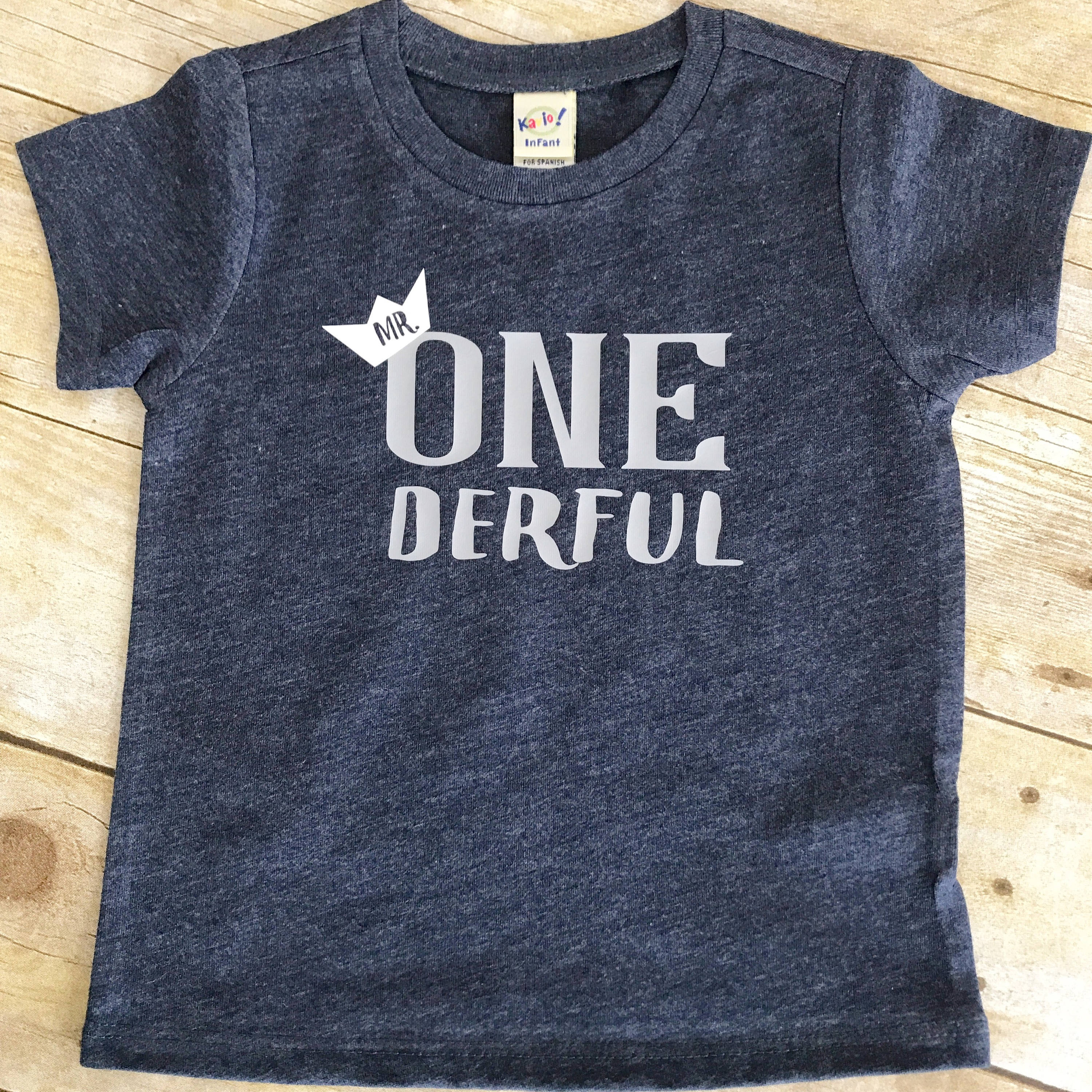 First Birthday Outfit Boy Mr Onederful Shirt