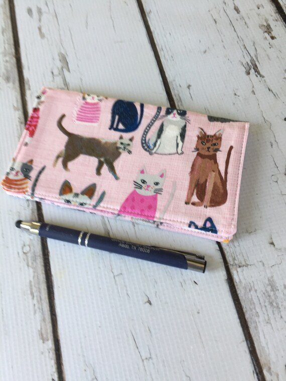 fabric checkbook cover check register holds cash and etsy