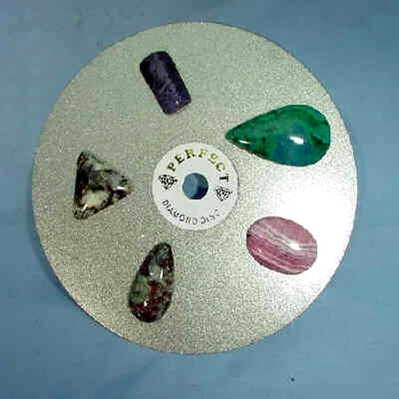 "6/""x1//2/"" 3000Grit Diamond Lapidary Glass Standard Faceting and Polishing Laps"