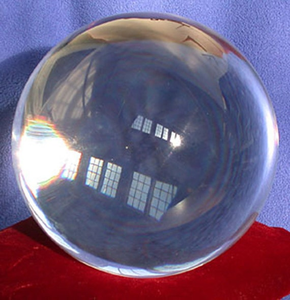 Fused quartz 100 mm optically clear sphere and Crystal stand   Etsy