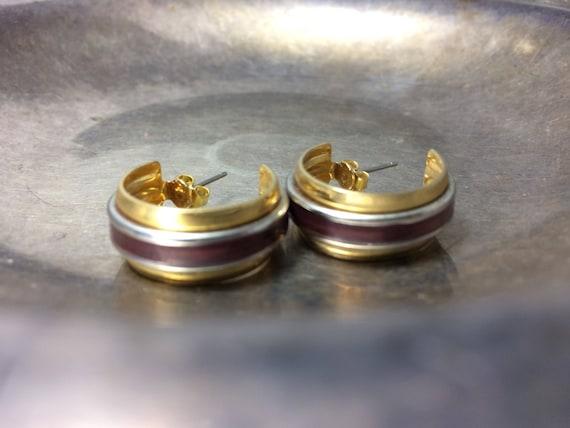 Vintage Hoop Earrings Small Hoop Earrings Gold Hoo
