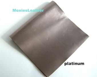 50a9ca4028 genuine leather platinum color - moxies leather - metallic leather