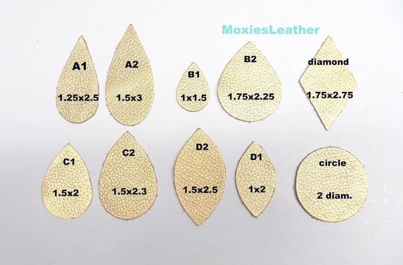 26  Earrings  leather print earrings   teardrop pieces   starter pack earring collection  free earring hooks for leather