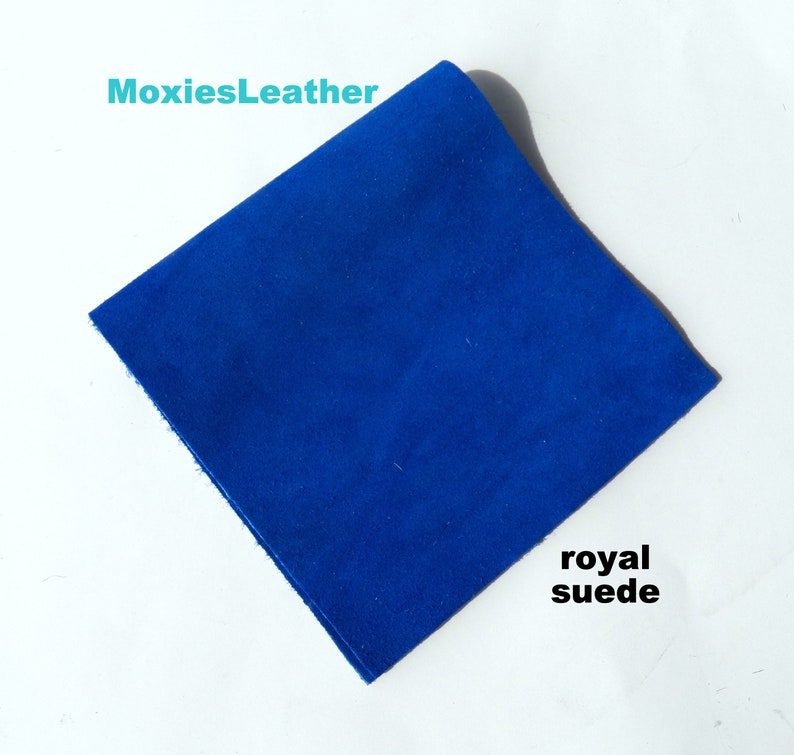 495d02f631ff Royal blue suede leather skin piece remnant crafts suede