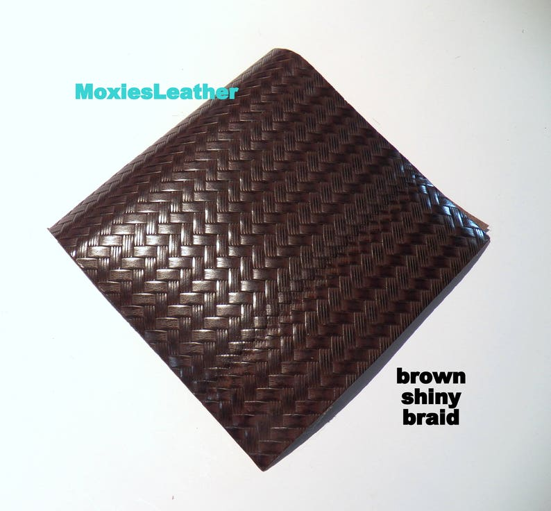 Tan print leather pieces leather cuts in black and brown  leather leather for earrings black leather
