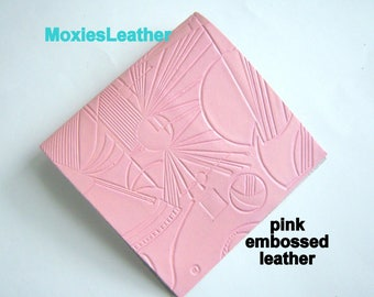 Leather pieces pastel colors leather embossed jewelery earrings