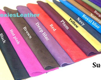 suede leather skin piece strips bands arts crafts, Genuine suede skins ,