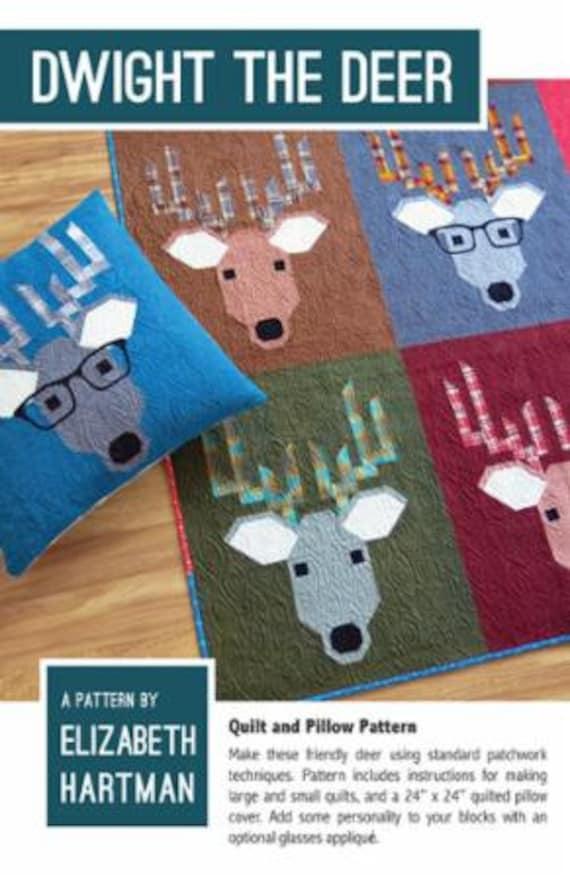 Dwight The Deer Quilt Pattern By Elizabeth Hartman Etsy