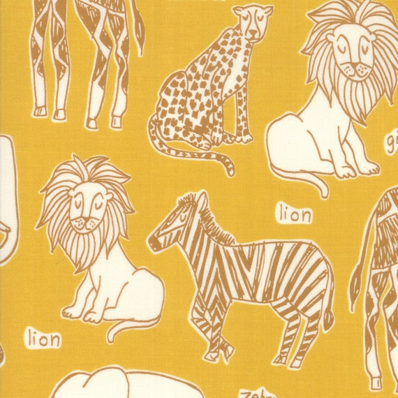 Juvenile Quilt Safari Life Khaki 20644 12 by Stacy Iest Hsu for Moda Fabrics
