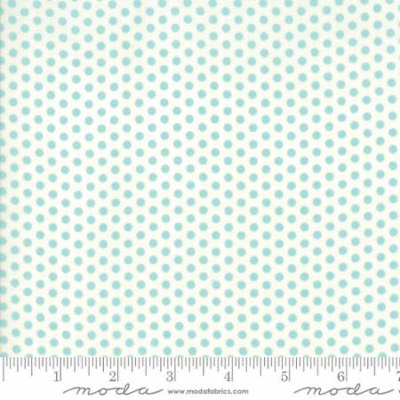 The Spot Robins Egg Cloud Sweet Marion by April Rosenthal from Moda -1 yard