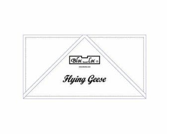 "Flying Geese Bloc Loc - 5 "" X  10"""