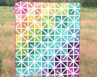 The Zola Quilt Kit --pattern by Kitchen Table Quilting - Erica Jackman (no pattern included) - V and Co Ombre Fabric by Vanessa Christensen