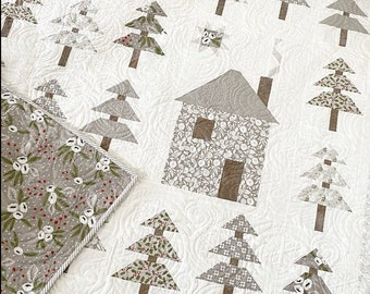 Silent Night Quilt Kit in Christmas Morning- The Pattern Basket- Lella Boutique-