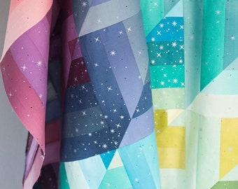 PREORDER Lucky Log Cabins Quilt Kit in Ombre Fairy Dust By V and Co- Vanessa Christensen- Pattern by Quilty Love - Emily Dennis- NO PATTERN
