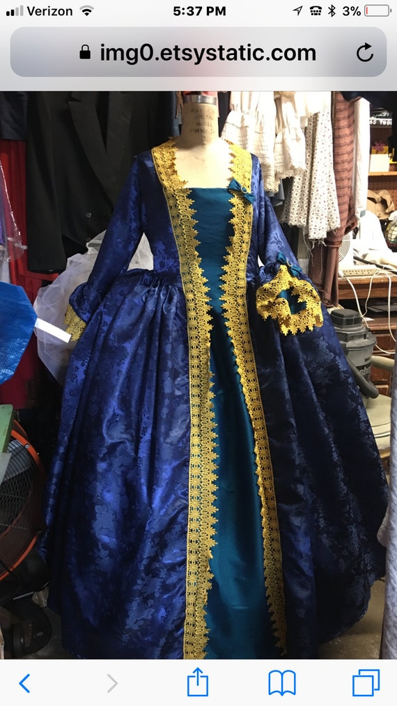 marie antoinette gown DAR gown colonial gown made to   Etsy