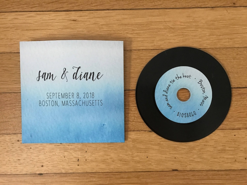 Custom Watercolor Ombre Wedding Or Birthday Cd Sleeve Party Etsy