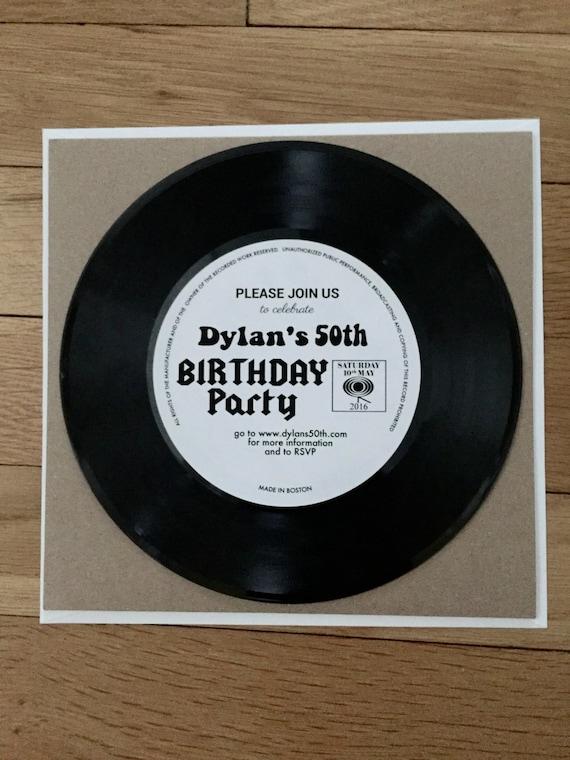 real vinyl record custom 7 record invitations retro