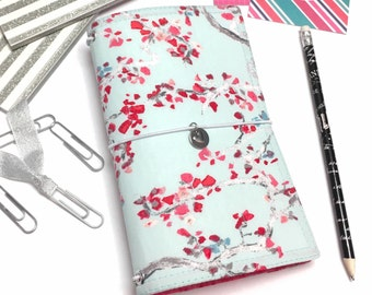 Vegan Journal, Fabric Fauxdori Cover, Travelers Notebook Cover, Travel Journal, Faux Dori Planner, Travel Diary, Dreamdori, A5 Fauxdori