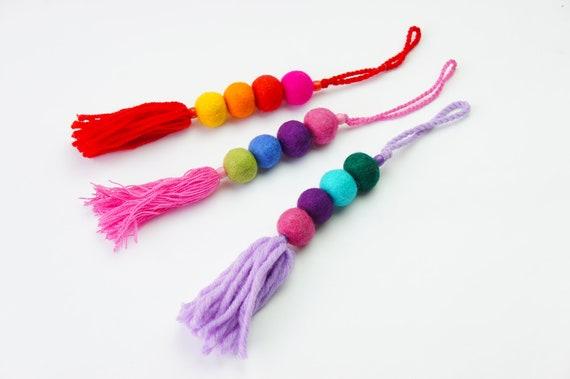Breloque, bijou de sac Pom Pom pompon, plage sac charme, Pom Pom porte-clé, pompon sac breloque, bijou de sac Pom Pom, feutre Ball bijou de sac, porte-clés Pom