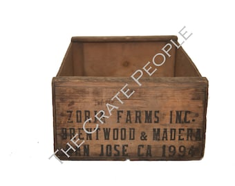 Vintage Wood Crates - ZORIA FARMS Crate-  Thousands Available