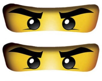 image regarding Printable Ninjago Eyes known as Ninjago eyes Etsy