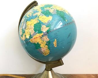 Vintage Touch Light World Globe