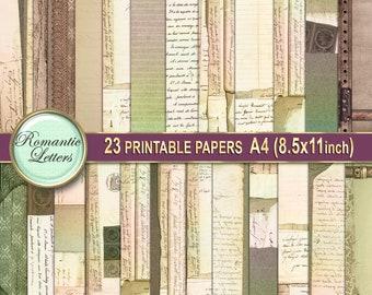 Printable paper Download  008 Vintage metal texture for scrapbooking art Digital paper pack Antique Metal Antique Paper digital backdrop