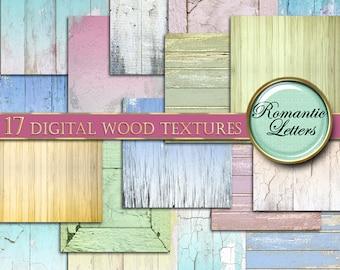 Digital Wood Paper digital wood background digital newborn backdrop digital wood wedding photo backdrop Shabby Chic wood wedding scrapbook