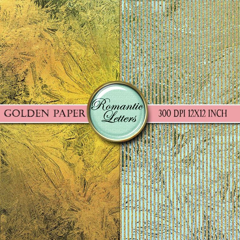 Gold glitter digital paper gold digital Scrapbook Paper pack digital  silver gold glitter scrapbook paper gold foil paper printable silver
